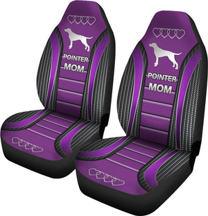 Pointer Mom Dog Seat Covers - Purple Car Seat Covers