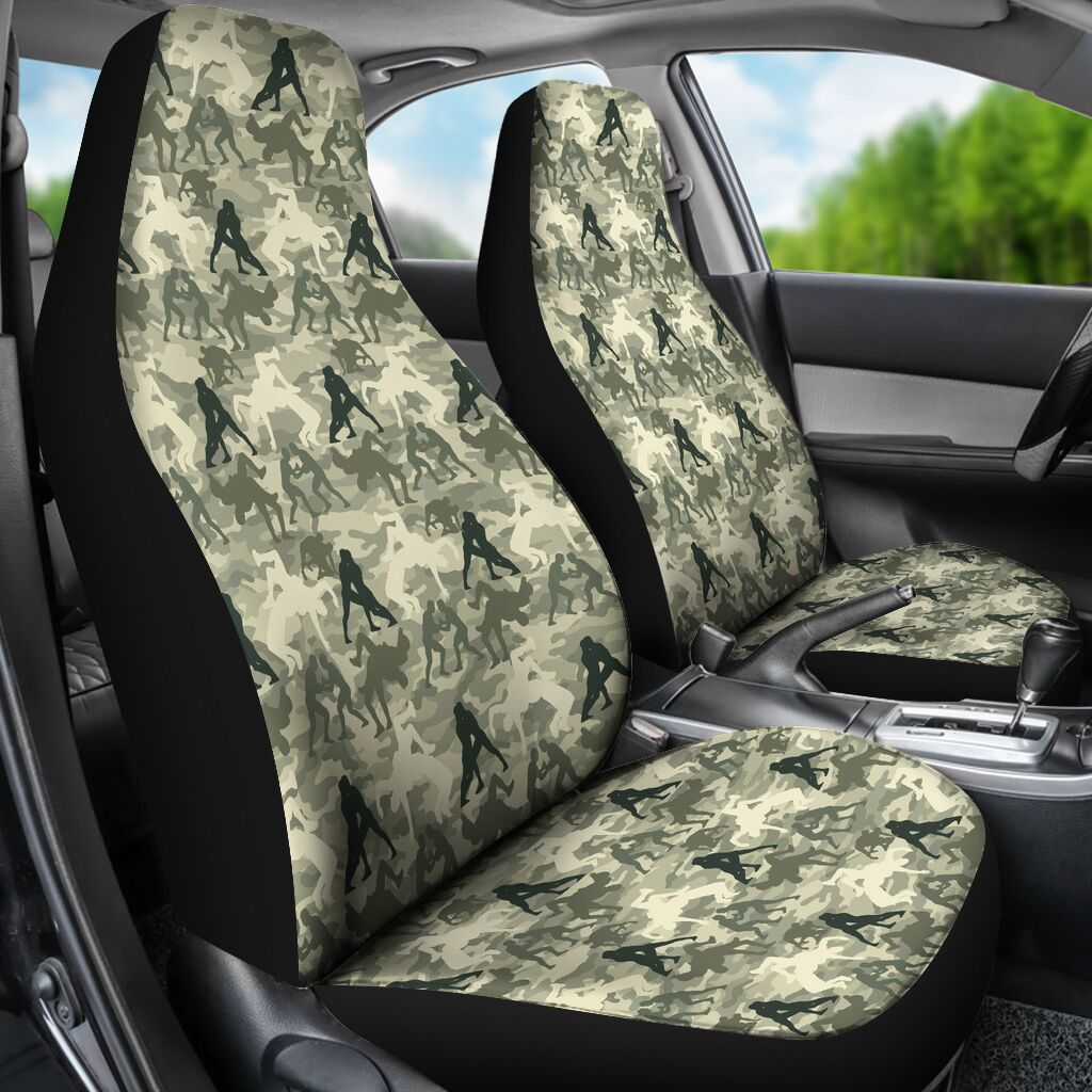 Wrestling Seat Cover - Camo Car Seat Covers