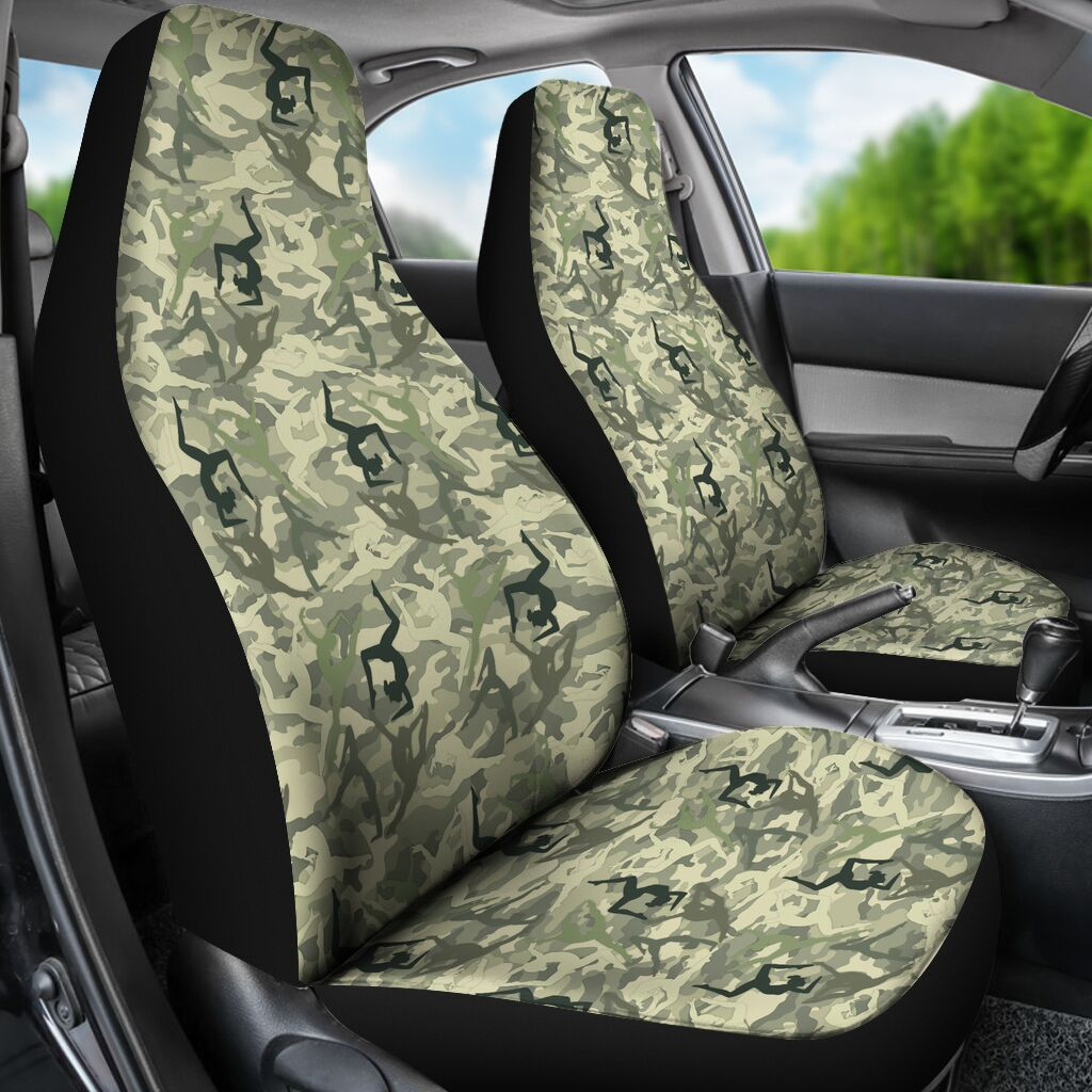 Gymnastics - Camo Seat Cover Car Seat Covers