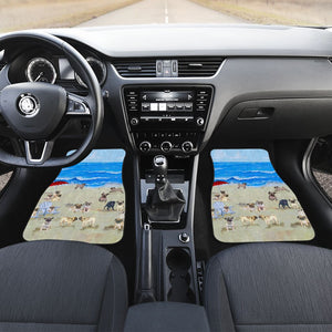 Open image in slideshow, Pug In Beach - Car Floor Mats