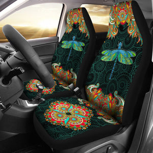 Open image in slideshow, Dragonfly Decorative Pattern - Car Seat Car Seat Covers