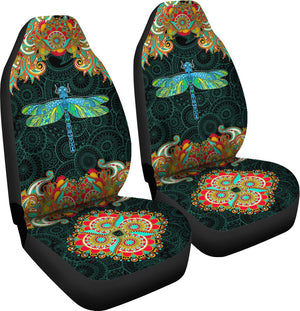 Dragonfly Decorative Pattern - Car Seat Car Seat Covers