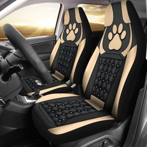 Dog Paw Yellow - Car Seat Car Seat Covers
