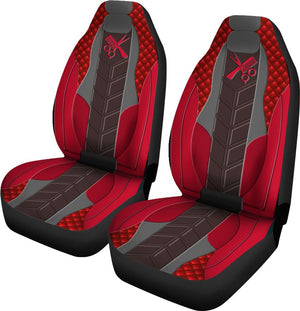 Hairstylist Leather Red - Car Seat Car Seat Covers