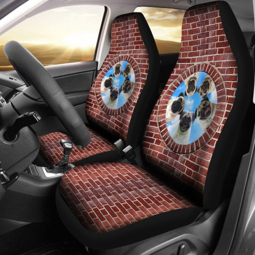 Pug Brick - Car Seat Car Seat Covers