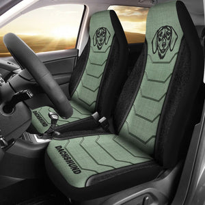 Dachshund Line Green - Car Seat Car Seat Covers