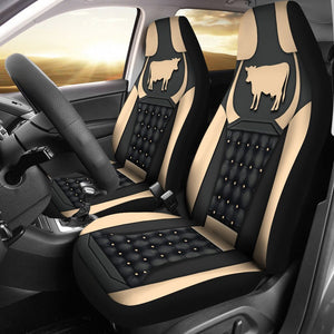 Open image in slideshow, Cow Yellow - Car Seat Car Seat Covers