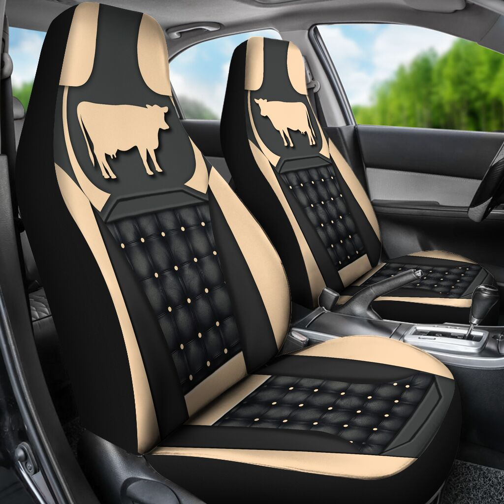 Cow Yellow - Car Seat Car Seat Covers