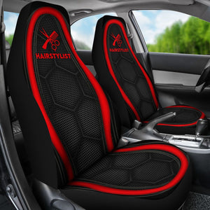 Hairstylist Red Line - Car Seat Car Seat Covers