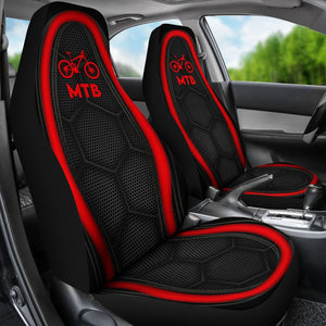 Mountain Bike Red Line - Car Seat Car Seat Covers