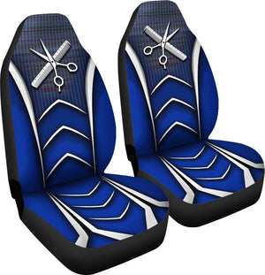 Hairstylist Black Blue - Car Seat Car Seat Covers