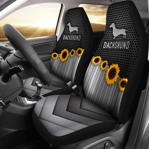 Open image in slideshow, Dachshund Silver - Car Seat Car Seat Covers