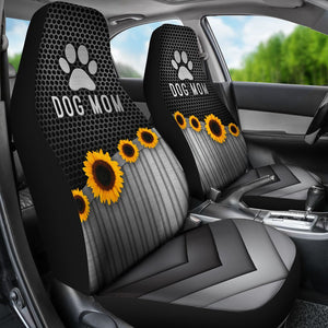 Dog Mom Silver - Car Seat Car Seat Covers