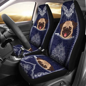 Pug Seat Car Car Seat Covers