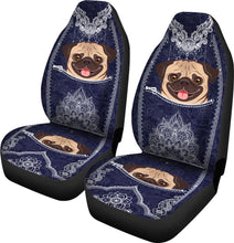 Load image into Gallery viewer, Pug Seat Car Car Seat Covers