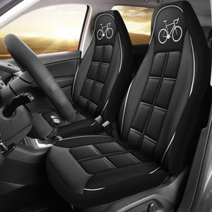 Cycling White Line - Car Seat Car Seat Covers