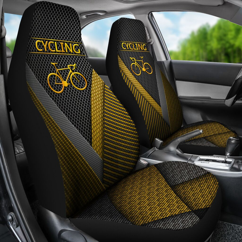 Cycling Gold Pattern - Car Seat Car Seat Covers