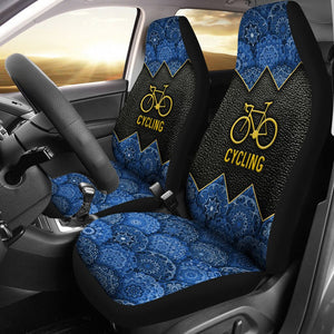 Open image in slideshow, Cycling Mandala And Leather - Car Seat Car Seat Covers