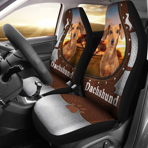 Open image in slideshow, Dachshund Leather Iron - Car Seat Car Seat Covers