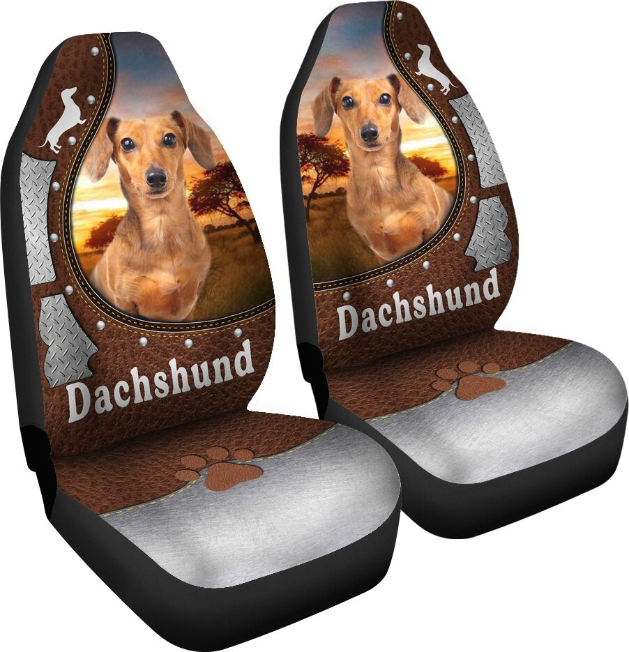 Dachshund Leather Iron - Car Seat Car Seat Covers