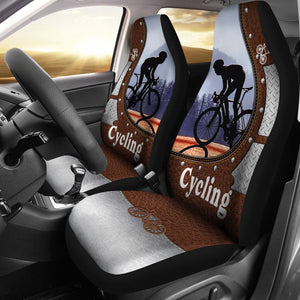 Open image in slideshow, Cycling Leather Iron - Car Seat Car Seat Covers