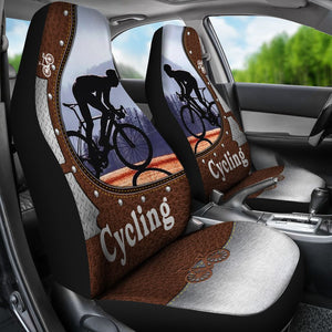 Cycling Leather Iron - Car Seat Car Seat Covers