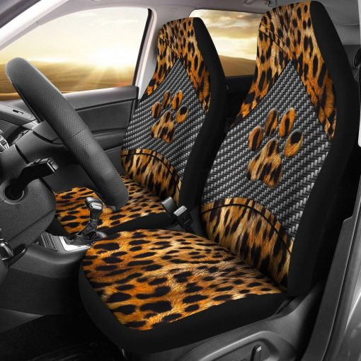 Dog Paw Leopard Skin - Car Seat Car Seat Covers