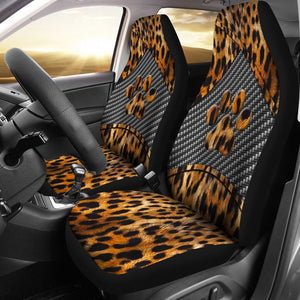 Open image in slideshow, Dog Paw Leopard Skin - Car Seat Car Seat Covers