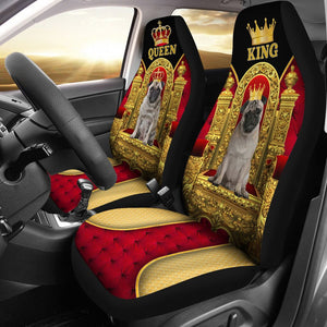 Open image in slideshow, Pug King And Queen - Car Seat Car Seat Covers