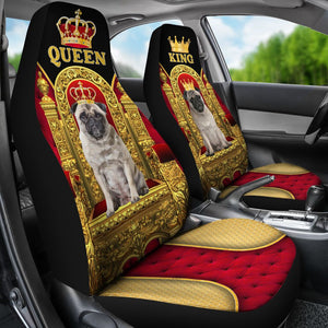 Pug King And Queen - Car Seat Car Seat Covers