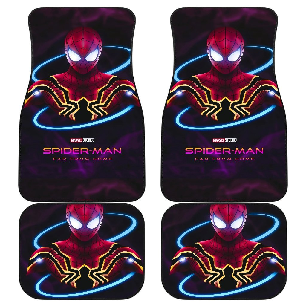 Spiderman Far From Home Poster for Fans Car Floor Mats