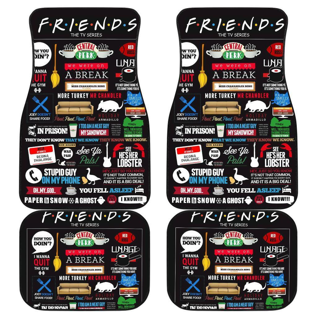 Friends TV Show Symbols Poster Car Floor Mats