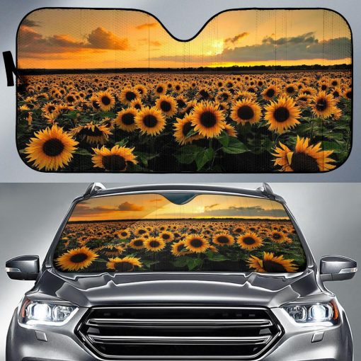 Sunflower Car Sun Shade