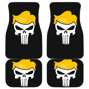 Donald Trump President Skull in black theme Car Floor Mats