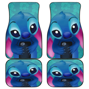 Stitch 2019 Sad Face Cartoon Car Floor Mats