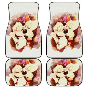 Mice Mickey Minnie Love Walt Disney Car Floor Mats