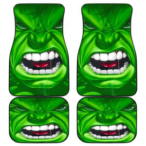Hulk Angry Face Marvel Universe Car Floor Mats