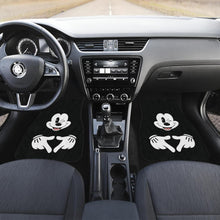 Load image into Gallery viewer, Mice Love Hand Sign Black & White Mickey Mouse Car Floor Mats