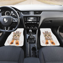 Load image into Gallery viewer, Cat Dog Mice Funny in white theme Car Floor Mats