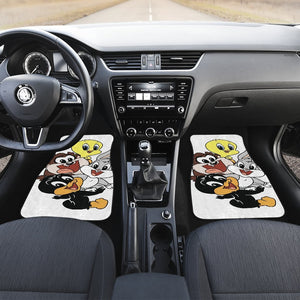 Cuties Baby Animal Looney Tunes in white theme Car Floor Mats