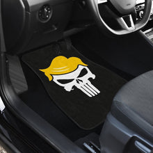 Load image into Gallery viewer, Donald Trump President Skull in black theme Car Floor Mats