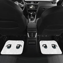 Load image into Gallery viewer, Funny Anime Eyes in White theme Car Floor Mats