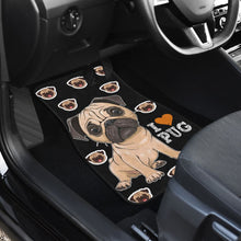 Load image into Gallery viewer, Pug Cartoon - Car Floor Mats