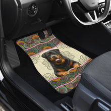Load image into Gallery viewer, Rottweiler Mandala Color - Car Floor Mats