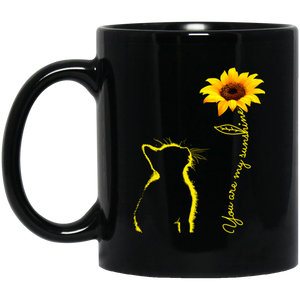 Open image in slideshow, Cat You Are My Sunshine Sunflower Mugs