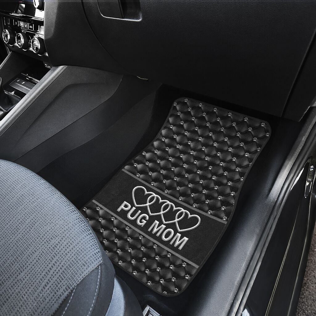 Pug Mom Heart - Car Floor Car Floor Mats