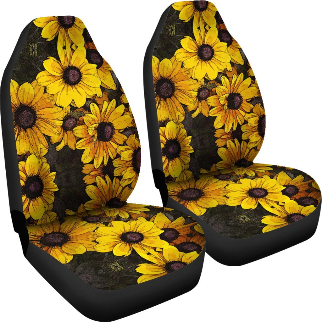 Sunflower Print Pattern Universal Fit Car Seat Cover