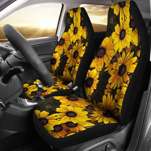 Open image in slideshow, Sunflower Print Pattern Universal Fit Car Seat Cover