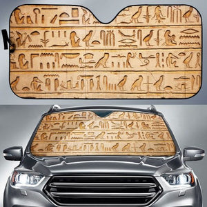 Hieroglyphics Language - Auto Sun Shade