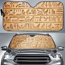 Load image into Gallery viewer, Hieroglyphics Language - Auto Sun Shade